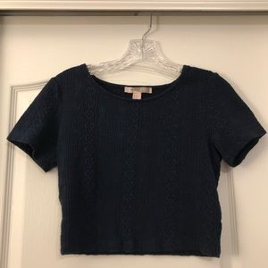 Forever 21 navy blue crop top, size small